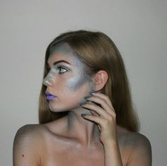 "Mermaid makeup isn't just for your face. Extending the scaly effect to your neck and shoulders, like Instagram makeup artist Ilinca Bulai (@ilincabulai), really commits to the costume. ""I started by placing the scales where my normal face contour and highlight would go, and then added more scales to my body,"" Ilinca says. Concentrate on the outside edges of your shoulders and collarbone for the most eye-catching result."