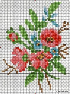 Cross Stitch Art, Cross Stitch Alphabet, Cross Stitch Flowers, Cross Stitch Designs, Cross Stitching, Cross Stitch Embroidery, Hand Embroidery, Cross Stitch Patterns, Crochet Flower Squares