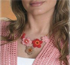 Bijoux - Fleurs et Applications au Crochet