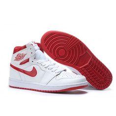 new concept 3b259 48b2b Cheap Mens Air Jordan 1 White Red Shoes For Sale  NikeAirJordan