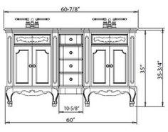 Standard height of bathroom vanity with vessel sink bath - Discount bathroom vanities los angeles ...