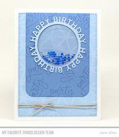 Happy Birthday Circle Frame Die-namics, Blueprints 24 Die-namics, Circle STAX 2 Die-namics, Handwritten Happiness Stamp Set, Abstract Stencil - Jane Allen  #mftstamps