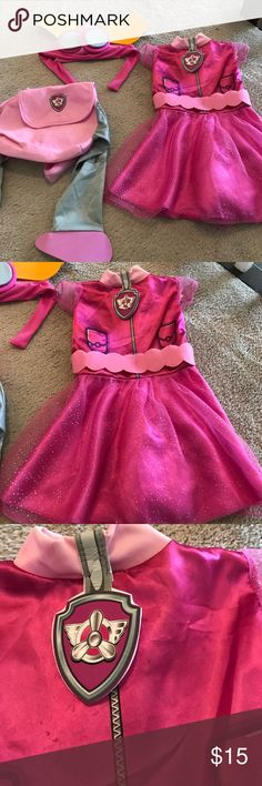 Paw patrol Skye 2T-3T costume Perfect for Halloween or dress up.  Pls see photos for wear Nickelodeon Costumes Halloween