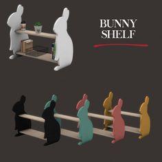 Leo Sims - Bunny Shelf for The Sims 4