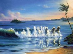 Gallop in waves Jim Warren art
