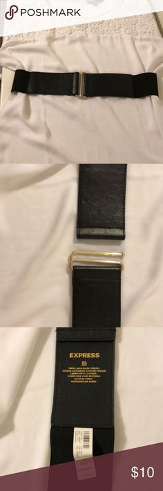 4dd4c3dd2d1 Shop Women s Express Black size M L Belts at a discounted price at  Poshmark. Description  Black and gold Express belt.