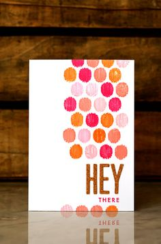 Hey There Card by Jess Witty for Papertrey Ink (February 2013)