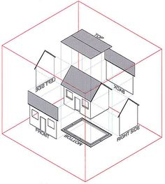orthographic projection house.