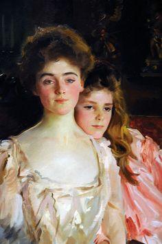 Mrs Fiske Warren and her daughter Rachel (Détail) John Singer Sargent
