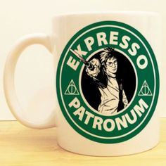 Harry Potter Coffee Mug Expresso Patronum Starbucks Deathly Hallows Objet Harry Potter, Mundo Harry Potter, Harry Potter Love, Harry Potter Fandom, Harry Potter Memes, Potter Facts, Albus Dumbledore, Severus Snape, Draco Malfoy