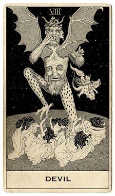 "A set of Tarot cards commissioned by Capitol Records for Halsey's ""Hopeless Fountain Kingdom"" by Sveta Dorosheva Hopeless Fountain Kingdom, Vintage Tarot Cards, Tarot Tattoo, Satanic Art, Esoteric Art, Tarot Major Arcana, Arte Obscura, Occult Art, Medieval Art"