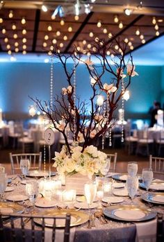 To be honest I usually could care less about centre pieces, but I love the inclusion of trees!