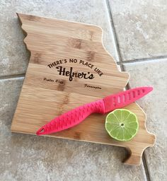 One of our customers cooked up this awesome idea for Bamboo Cutting Boards shaped like Missouri. We can make cutting boards in any shape!