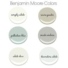 Benjamin Moore Paint Colors for a Farmhouse or Modern House Interior Paint Colors, Paint Colors For Home, Paint Colours, Best Neutral Paint Colors, Interior Painting, Modern Farmhouse Style, Farmhouse Decor, Farmhouse Front, Farmhouse Design