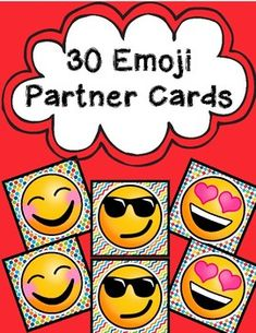 Never again will you struggle with choosing partners in your class again. Simply print out these cards (I print them on cardstock for extra sturdiness!) and let your kids choose one each. Then, they find the buddy who has the same and . Classroom Procedures, Primary Classroom, Classroom Organization, Classroom Decor, Animal Print Background, Partner Cards, Emoji Set, Rainbow Background