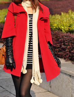Red Cape Wool Coat Winter Woman Cloak Long Dress Coats Wool Cape Coat Jacket -WH001 XS-XL
