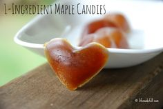 These 1-Ingredient Maple Candies are amazingly quick to throw together, and are made from an all-natural ingredient: pure maple syrup!