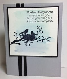 """Such a """"tranquil"""" card.  Uses Stampin' Up! World of Dreams stamp set."""