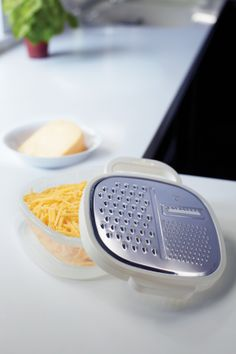 Cute idea! This grater/storage container would be nice for shredded veggies too!