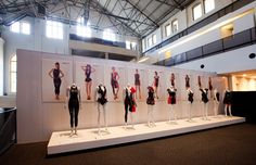 Speedo swimwear, swimming costume and young designer display.  Speedo LZR Racer 'UPcycle' student collaboration with Fashion Technology students at...