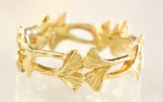 Kevin Cremin - Narrow Ginkgo Ring - 18k Gold
