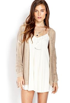 Easy Open-Knit Hooded Cardigan | FOREVER21 - 2000127152