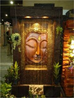 Indoor Fountain Buddha: China Suppliers - 643125 - Love Me - indoorwaterfountains Indoor Waterfall Wall, Indoor Waterfall Fountain, Indoor Wall Fountains, Small Fountains, Indoor Fountain, Water Fountains, Home Fountain, Diy Water Fountain, Tabletop Fountain