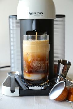 This iced coconut caramel mocha will definitely wake you up, and cool you down. Make a perfect frothy pour for one or more with Nespresso's Vertuoline. Dish Count :: 1 Glass, 1 Nespresso Vertuoline Ben always brews too much coffee in the mornings, and half the time I end up running out the door with …
