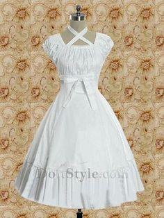 White Empire Waist Shiro Lolita Dress (14375) - Lolita Dresses ...