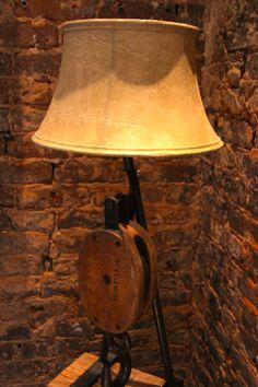 Beautiful, rustic lamp.