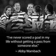 #WNT #soccer #Abby #Wambach #quote