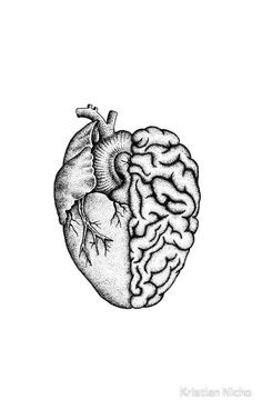 Heart and Brain iPhone Case by Kristian Nicho Drawing Brain Case Heart heart Drawing iPhone Kristian Nicho Cool Art Drawings, Pencil Art Drawings, Colorful Drawings, Art Drawings Sketches, Easy Drawings, Tattoo Drawings, Drawing Ideas, Tattoo Sketches, Drawing Faces