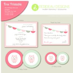 1stbirthday printables