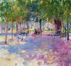 Tuileries, Paris (oil on canvas), Graham, Peter (Contemporary Artist) / Private Collection / Bridgeman Images