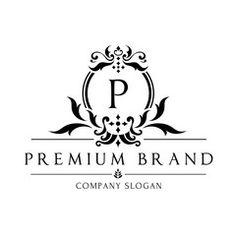 Boutique logo,hotel logo,luxury brand logo,vector logo template