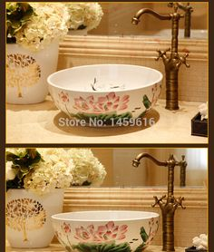 Round Bathroom Cloakroom Ceramic Counter Top Wash Basin Sink Washing bowl 5011