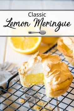 This classic Lemon Meringue Pie is just like the one my grandma used to make. No lemon pie filling mixes here. From scratch lemony goodness that is light and lemony with a flaky homemade pastry crust. Homemade Pastries, Homemade Desserts, Delicious Desserts, Homemade Pies, Tart Recipes, Sweet Recipes, Dessert Recipes, Citrus Recipes, Spring Recipes