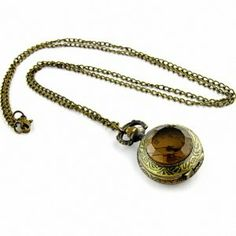 Youyoupifa Unique Retro Design Bronze Alloy Case White Dial Amber Front Antique Pocket Watch NBW0PB7106-CO3 Youyoupifa. $3.58