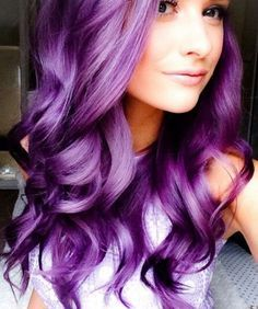 Sexy hair shades and colors! - Sexy hair shades and colors! Sexy hair shades and colors! Blond Pastel, Dyed Hair Pastel, Bright Purple Hair, Hair Color Purple, Colorful Hair, Pink Hair, Curly Purple Hair, Violet Hair Colors, Neon Hair
