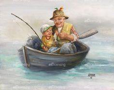 ~ Learning from Grandpa ~   by Dianne Dengel _099   artlicensing.com