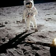This is a photo of Buzz Aldrin taken by Neil Armstrong the first man to walk on the moon on July 21, 1969 at 02:56 UTC.