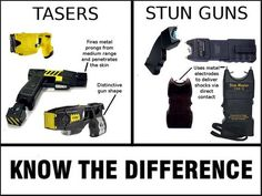"We often are asked ""What is the difference between a TASER and a regular stun gun?"". See below the difference.  To learn more about these highly effective non-lethal devices go here -> http://www.directdefensesystems.com/collections/taser We carry all the same models as Law Enforcement officials do and you do not need a license or permit to carry. We carry the C2 which is popular among women. We also have the M26C, X26C and the X2. So stop buy and pick one up and be protected Today!"