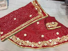 Beautiful elegant designer gotta work silk lehenga choli/ chaniya choli for engagement/ light function.