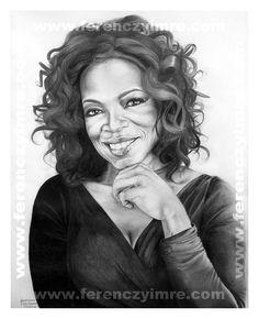 Oprah Winfrey. Pencil Portrait by Ferenczy Imre.