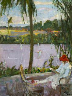 Florida in Winter, 1927 - Sir John Lavery (Irish, 1856-1941) Impressionism