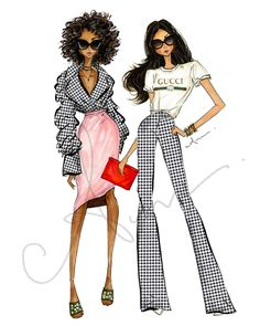 Gingham anumt fashionillustrations anumt etsy com be inspirational mz manerz being well dressed is a beautiful form of confidence happiness politeness 20 ideas for diy fashion design sketches fashion diy Foto Fashion, Fashion Art, Editorial Fashion, Trendy Fashion, Fashion Models, Fashion Show, Fashion Outfits, Dress Fashion, Fashion Clothes