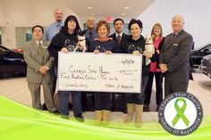 """Thank you Tammy, Sue, Barb, Paco and Lola for visiting with us this afternoon to accept a $500 contribution towards Casey's Safe Haven. Last months """"Choose your Charity"""" Winner! Read more about a great charity and learn how you can help: http://www.infinitiofnaperville.com/blog/2014/january/10/Caseys-Safe-Haven-wins-their-first-Choose-your-Charity-contest.htm — with Steve Camp, Micah Basarich and Edie Hebert at Infiniti of Naperville-Lisle."""