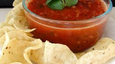 You can make this salsa as fiery as you like by adding more or less peppers. But whatever you do, don't leave them out. And because everything goes into the food processor, you can make the salsa chunky or smooth with just a flick of the switch.