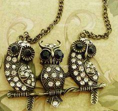 Vintage Owl Necklace!!