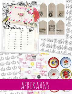 Paper packs english ones are also availabe Projects To Try, September, Paper Packs, Ideas Magazine, Bullet Journal, Printables, Lettering, Crafty, Creative